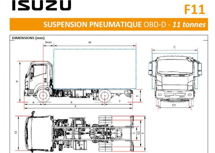 Catalogue Isuzu F11 Susp. Pneumatique
