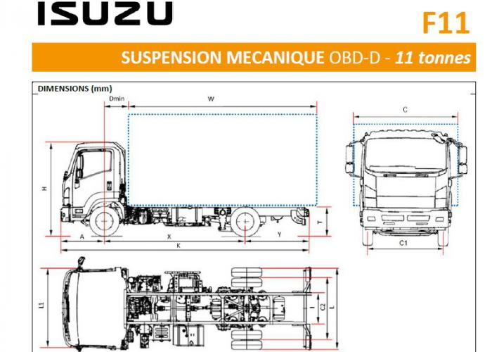 Catalogue Isuzu F11 Susp. Mecanique