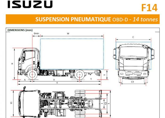 Catalogue Isuzu F14 Susp. Pneumatique