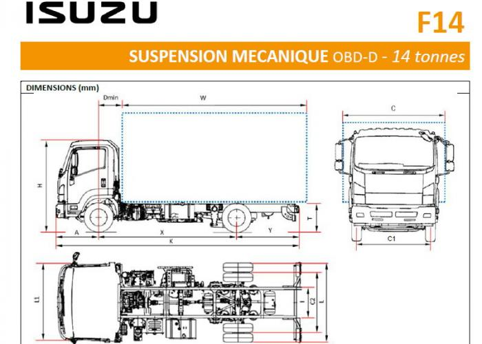 Catalogue Isuzu F14 Susp. Mecanique
